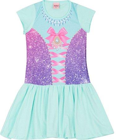 Camisola Infantil Princesa Verde 5132