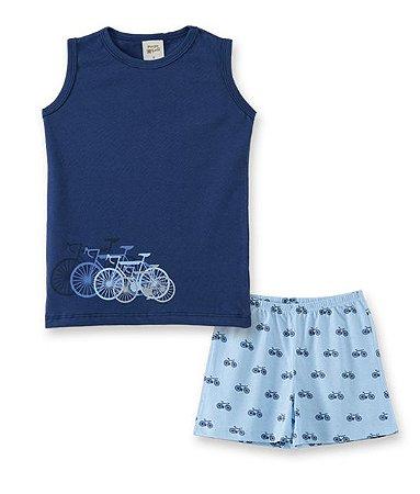 Pijama Infantil Regata + Short Pingo Lelê 86001