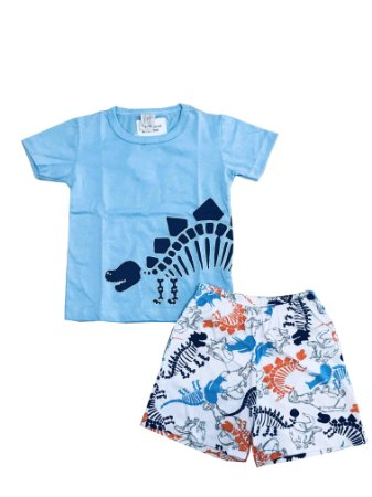 Pijama Infantil Camiseta Dino + Short Pingo Lelê 86056