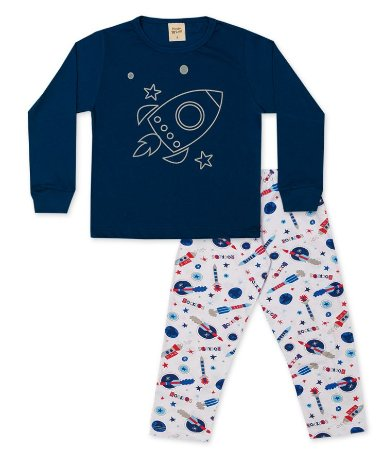 Pijama Longo Infantil em Algodão Pingo Lelê 85074