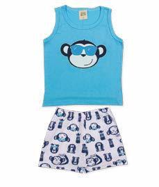 Pijama Infantil Regata + Short Pingo Lelê 85061
