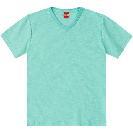 Camiseta Basica Lisa Verde Claro Kyly 107630