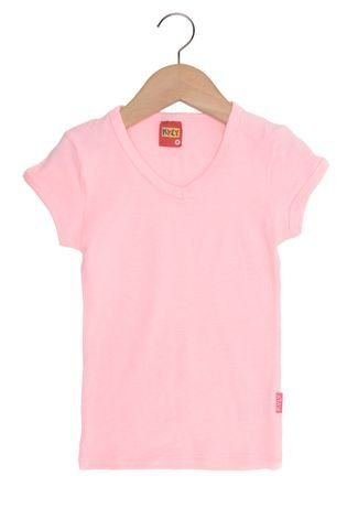 Blusa Básica Rosa Fluorescente Kyly 106892
