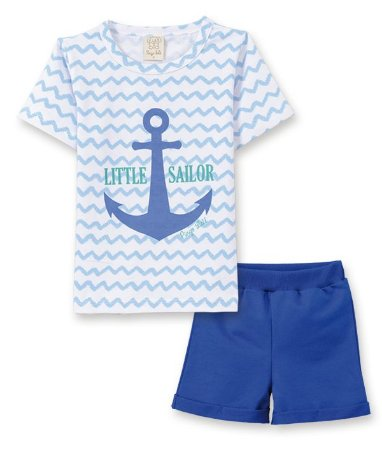 Conjunto Infantil Camiseta + Short Moletinho Pingo Lelê 66134