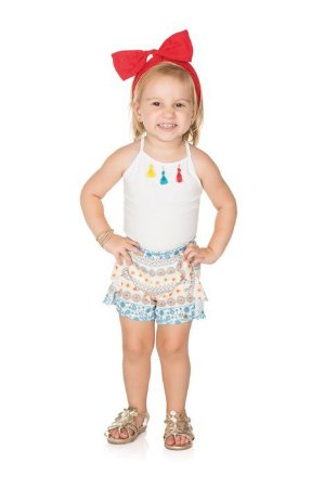 Conjunto Infantil Short + Blusa Regata Pega Mania 73076