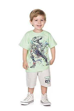 Conjunto Infantil Bermuda Moletinho + Camiseta Pega Mania 76148