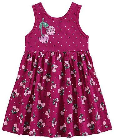 Vestido Regata Infantil Cerejas Kyly 109142