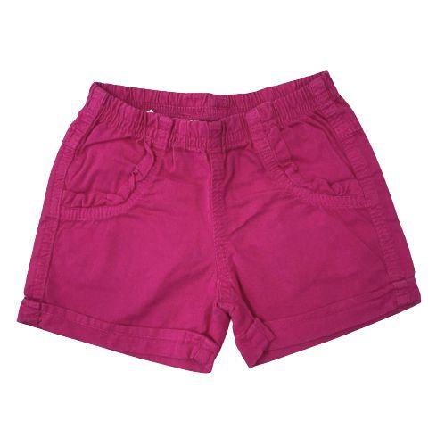 Short Sarja Infantil Rosa Pega Mania 82254
