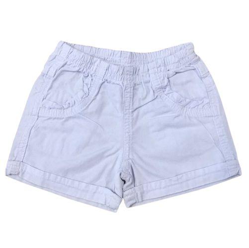 Short Sarja Infantil Branco Pega Mania 82254