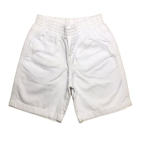 Bermuda Infantil em Sarja Branco Pega Mania 81439