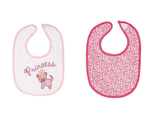 Kit 02 Babadores Impermeável Rosa Buba 5975