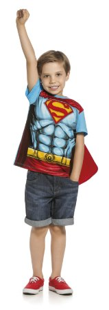 Camiseta Superman com Capa  Kamylus 91435