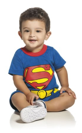 Macacão Curto Superman Kamykus 91585