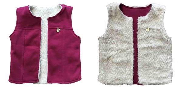 Colete Infantil Dupla Face Pink 65039