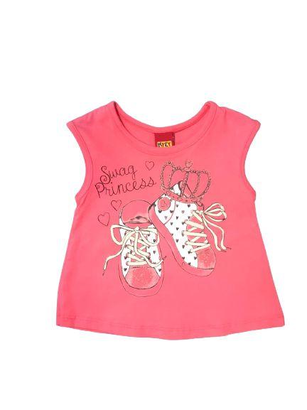 Camiseta Infantil Regata Rosa Kyly 108030