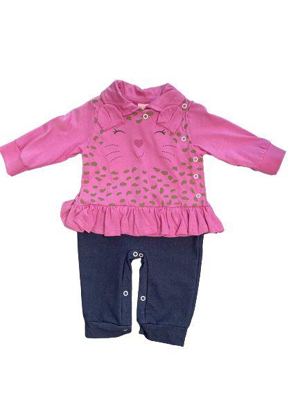 Macacão Bebê Pink Serelepe 4352