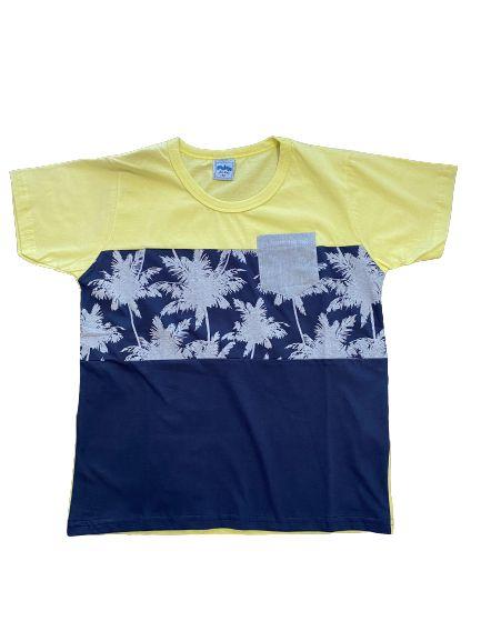 Camiseta Infantil Masculina Serelepe Amarela 4579