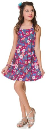 Vestido Infantil Regata Florido Pink Kyly 108874