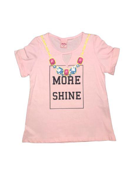 Camiseta Infantil Feminina Rosa Claro 4600