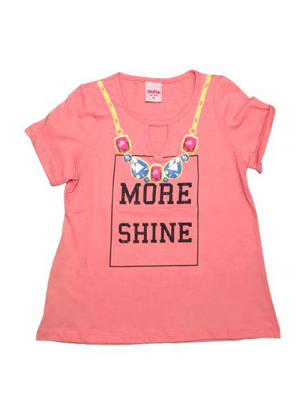 Camiseta Infantil Feminina Rosa Escuro 4600