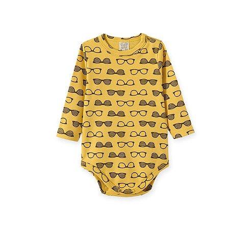 "Body Bebê Manga Longa ""Oculos Mostarda"" Pingo Lelê 66738"
