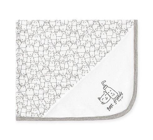 Manta em Malha Suedine Branca Pingo Lelê 66730