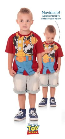 Camiseta Toy Story Disney Fakini 1603493 Vermelho