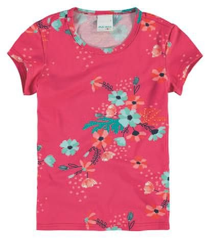 Camiseta Infantil Florida Rosa Malwee 32857