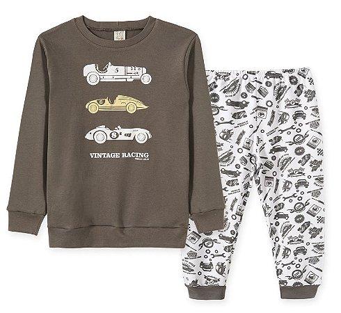 Pijama em Suedine Infantil Carros Pingo Lelê 86193