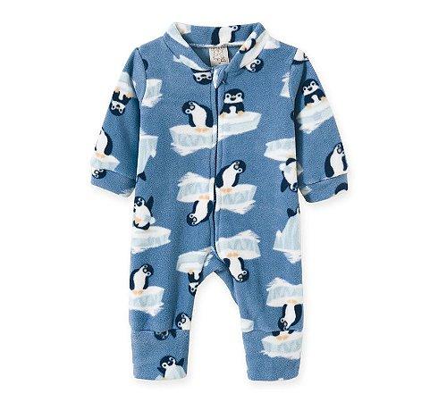 Macacão Infantil Soft com Zíper Pinguim Pingo Lelê 9054