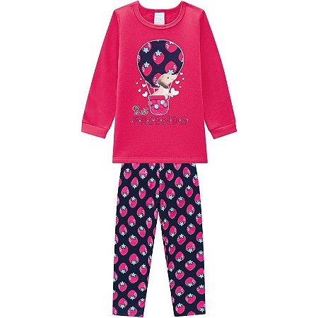 Pijama Infantil Blusa + Calça Moletom Cachorrinho Kyly 207521