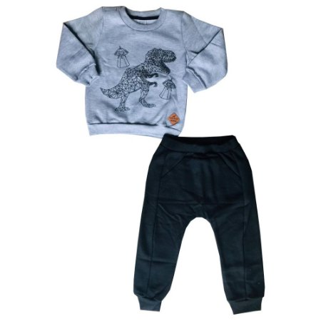 Conjunto Infantil Moletom Blusa + Calça Dinossauro Pega Mania 75182