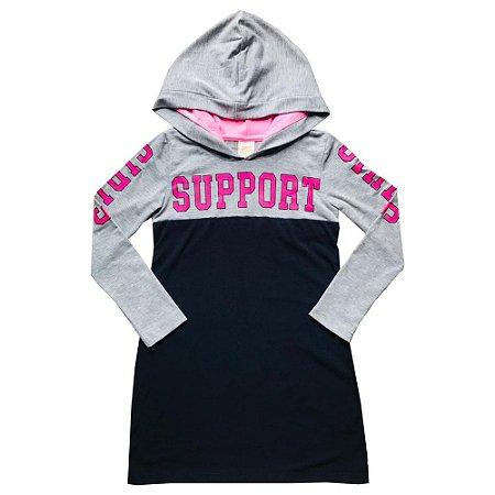 Vestido Manga Longa e Capuz Support Pega Mania 53068