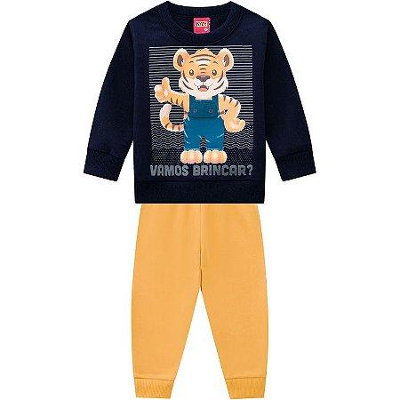 Conj Infantil Casaco + Calça Moletom Tigre Kyly 207442