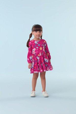 Vestido Infantil Manga Longa Mon Sucre 18006