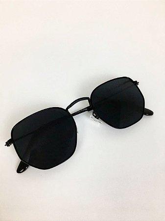 Óculos New York Hexagonal (Preto)