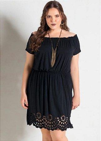 Vestido Plus Size Bruna Preto ou Azul