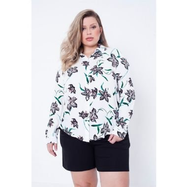 Camisa Plus Size Alfaiataria Julia Plus