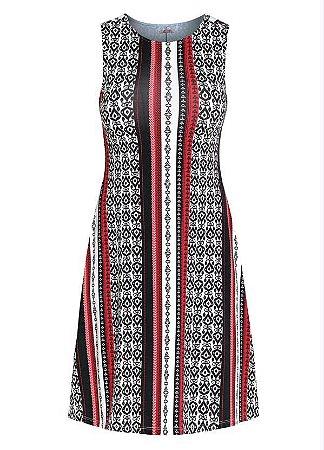 Vestido Plus Size Estampa Étnica