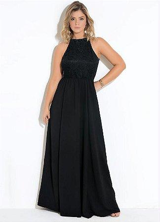 94f11555e2b0 Vestido Festa Plus Size Longo Preto Renda - Moda Plus Size, Bolsas e ...