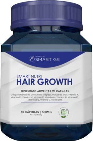 SMART NUTRI HAIR GROWTH - Suplemento Alimentar em capsulas - Crescimento capilar - SMART GR