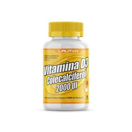 Vitamina D3 2.000UI - 60 Cápsulas - Linha Clinical Series Lauton Nutrition