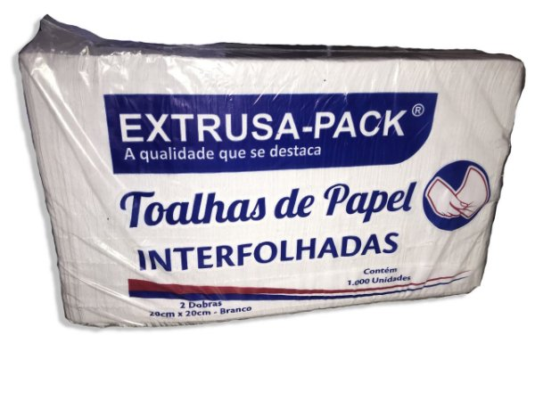 Papel Toalha Interfolha Branco 1.000 Folhas Extrusa Pack