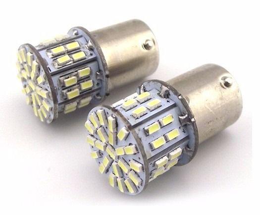Par de lâmpadas 50 leds BA15s P21W Branca 1 Polo