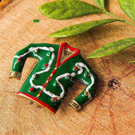 Botton - Camisa Natalina Verde