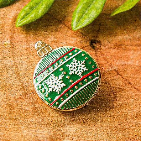Botton Bola de Natal Verde