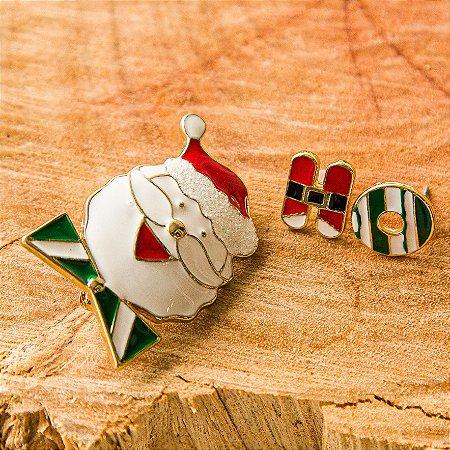 Botton Papai Noel com Brinquinhos H O