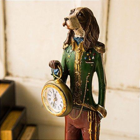 Cachorro Relógio de Bolso Inglês