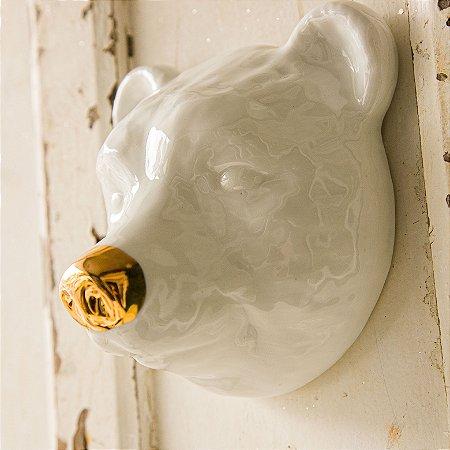 Urso de Parede com Nariz Dourado