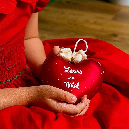Bola Coração Natal